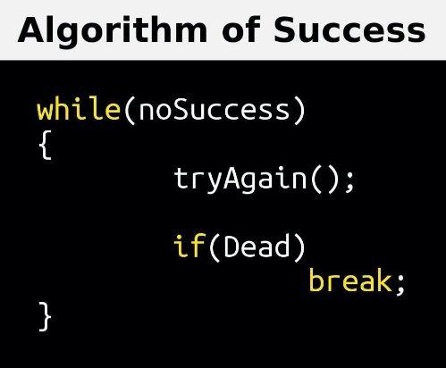 algoritmo para lograr el éxito