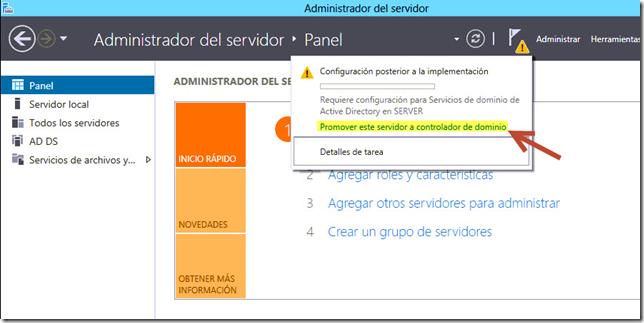 Promover este servidor a controlador de dominio